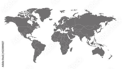 Obraz 世界地図 高画質ベクター - fototapety do salonu