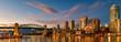 canvas print picture - Panorama view Granville island near Burrard Street Bridge at twilight in Vancouver,Canada