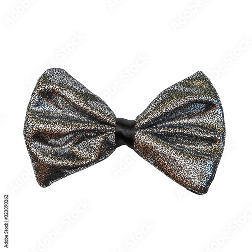 Fotografia Glitter bow tie on a white background