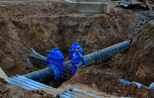 Laying Underground Storm Sewer...