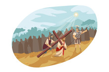 Jesus Christ On Way Of Cross, ...