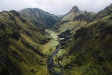 Aerial View Of Stream In The I...