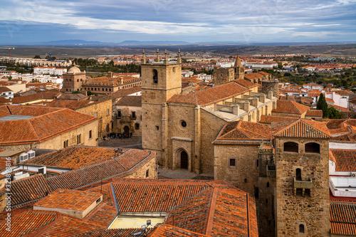 Cathedral of Santa Maria de la Asuncion in Caceres, Extremadura, Spain Wallpaper Mural