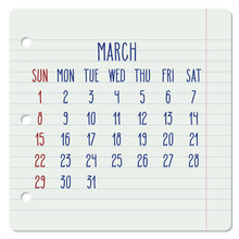 March Year 2020 Monthly Notebo...