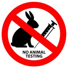 No Animal Testing Vector Sign