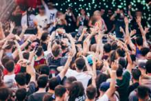 Blurred Crowd At Music Festiva...
