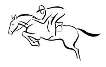 Equestrian Sport Emblem - Blac...