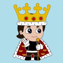 Emoji With Happy Medieval King...