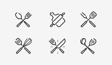 Cooking Icon Set. Culinary, Re...
