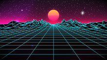 Synthwave Sunset Background. 8...