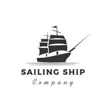 Retro Vintage Sailing Ship Sil...