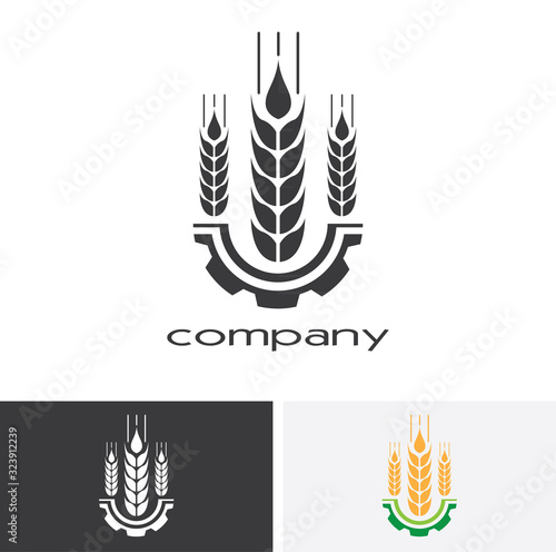 Agriculture Logo Template Design Wallpaper Mural