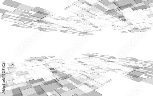 Geometric squares tech perspective background. #323918024