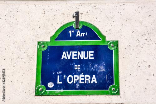 Photo Frenc street sign, Photo image a Beautiful panoramic view of Paris Metropolitan