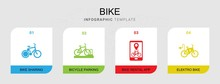 4 Bike Filled Icons Set Isolat...
