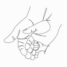 Hands Mom Dad Baby