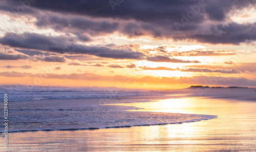 Cream colored Sunset Landscape on Beach
