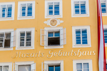 Mozart's Birthplace (Mozarts Geburtshaus) At Salzburg, Austria
