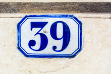 House Number Thirty Nine 39