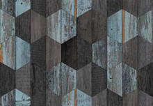 Dark Weathered Wooden Wall Wit...