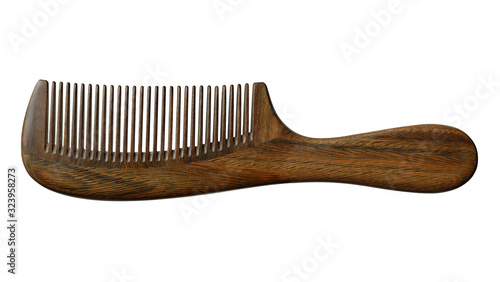 Fotografia wooden comb isolated on white background