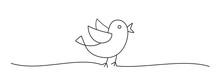 Doodle Black Easter Chick Bird...
