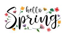 Hello Spring, Handwritten Lett...