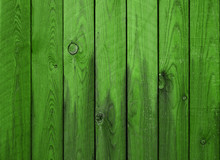 Green Wood Planks Background W...