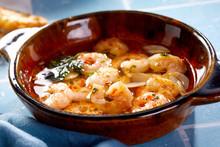 Gourmet Spicy Grilled Mediterranean Scampi