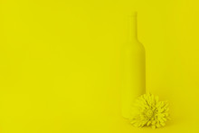 Yellow Still Life With A Bottl...