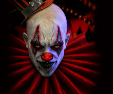 3d Illustration Evil Clown Psico Horror Show