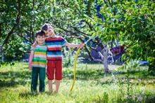 Children Playing With Garden S...