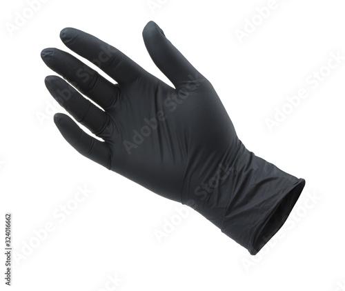 Photo Black empty nitrile protective glove