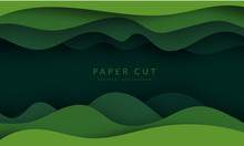 Green Abstract Paper Carve Bac...