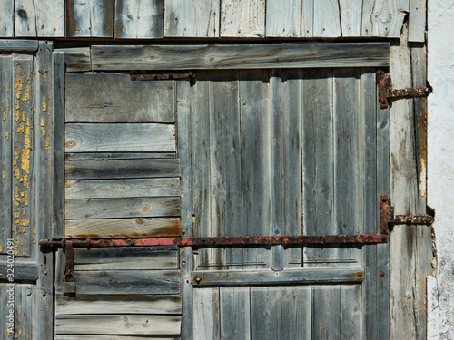 Fragment of a wooden door in Almeria, Spain