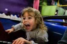 Little Girl Screaming On Amuse...
