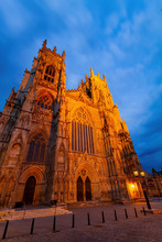 Night Exterior View Of The York Minster