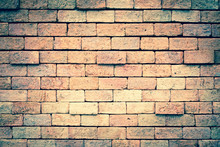 Brick Wall Background For Vint...