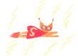 Superbohater rysunek dziecka