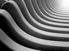 Abstract Black And White Photo Of Arhitectural Curved Details