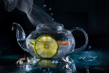 Hot Tea - With Steam