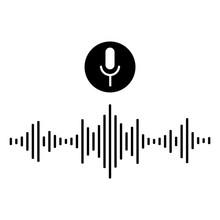 Sound Audio Wave. Voice Message Or Recording Voice. Vector Illustration.