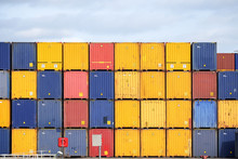 Colorful Freight Containers St...