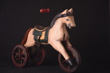 Carousel Horse With Wheels On Black