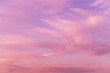 canvas print picture - Dramatic sunrise, sunset pink violet sky with clouds background texture