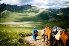 Guides And Travelers Ride Hors...