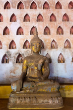 Wat Si Saket,  A Collection Of Statues In Wall Niches, Vientiane, Laos,Vientiane