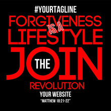 Join The Revolution Biblical Quote Typography Design - VECTOR