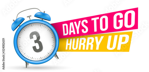 Fototapeta Creative vector illustration of sale countdown badge, alarm clock. Design sale slogan background - Days to go, hurry up template. Abstract concept last minute, hour, week offer banner, promo element obraz