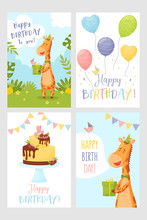 Vector Set Of Happy Birthday G...